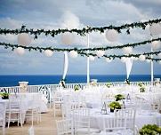 Hotel terrace reception