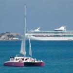 Right near the cruise ships in Dockyard