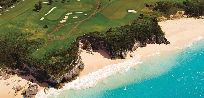 Golf Course Hugging Bermuda's Coast
