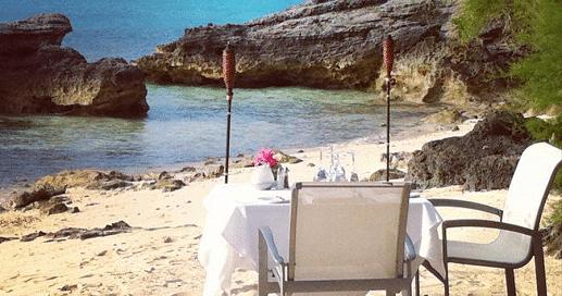 Dinner on the Beach in Bermuda