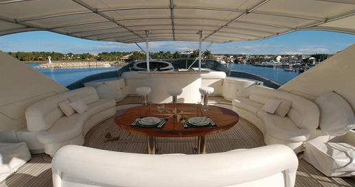 Dinner on a yacht
