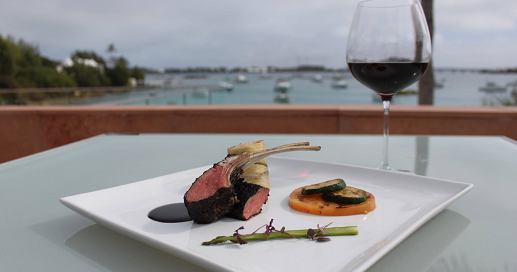 Fine Dining - Lamb Chops and Red Wine