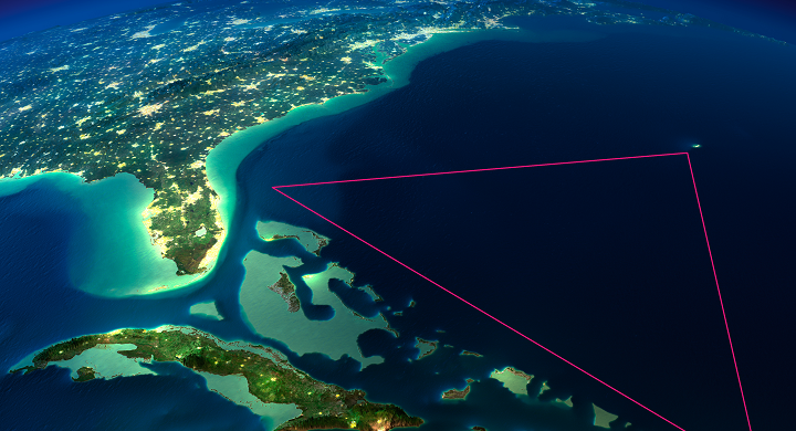 Image of the Bermuda Triangle from Space