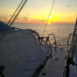Enjoy a sunset charter like this one.