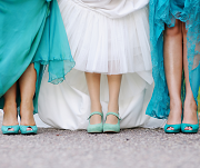 Turquoise Wedding Shoes for the Bride and Bridesmaids