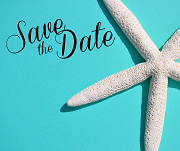 Save the Date card with a Starfish