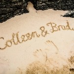 Colleen and Brad's Names in Sand