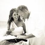 Groom Signing the Wedding Paperwork