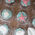 Beach Wedding Themed Cupcakes