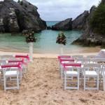 Beach Wedding at Jobson's Cove, Bermuda