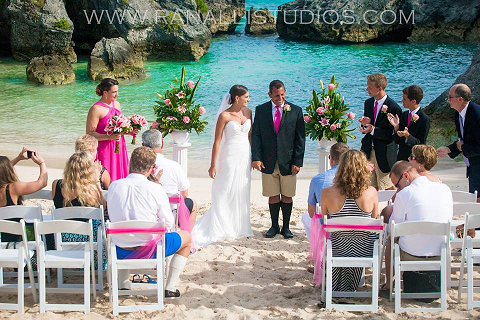 Gorgeous Wedding On The Beach Bermuda Shorts On The Groom
